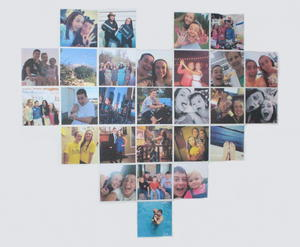 diy heart photo collage a little craft in your day