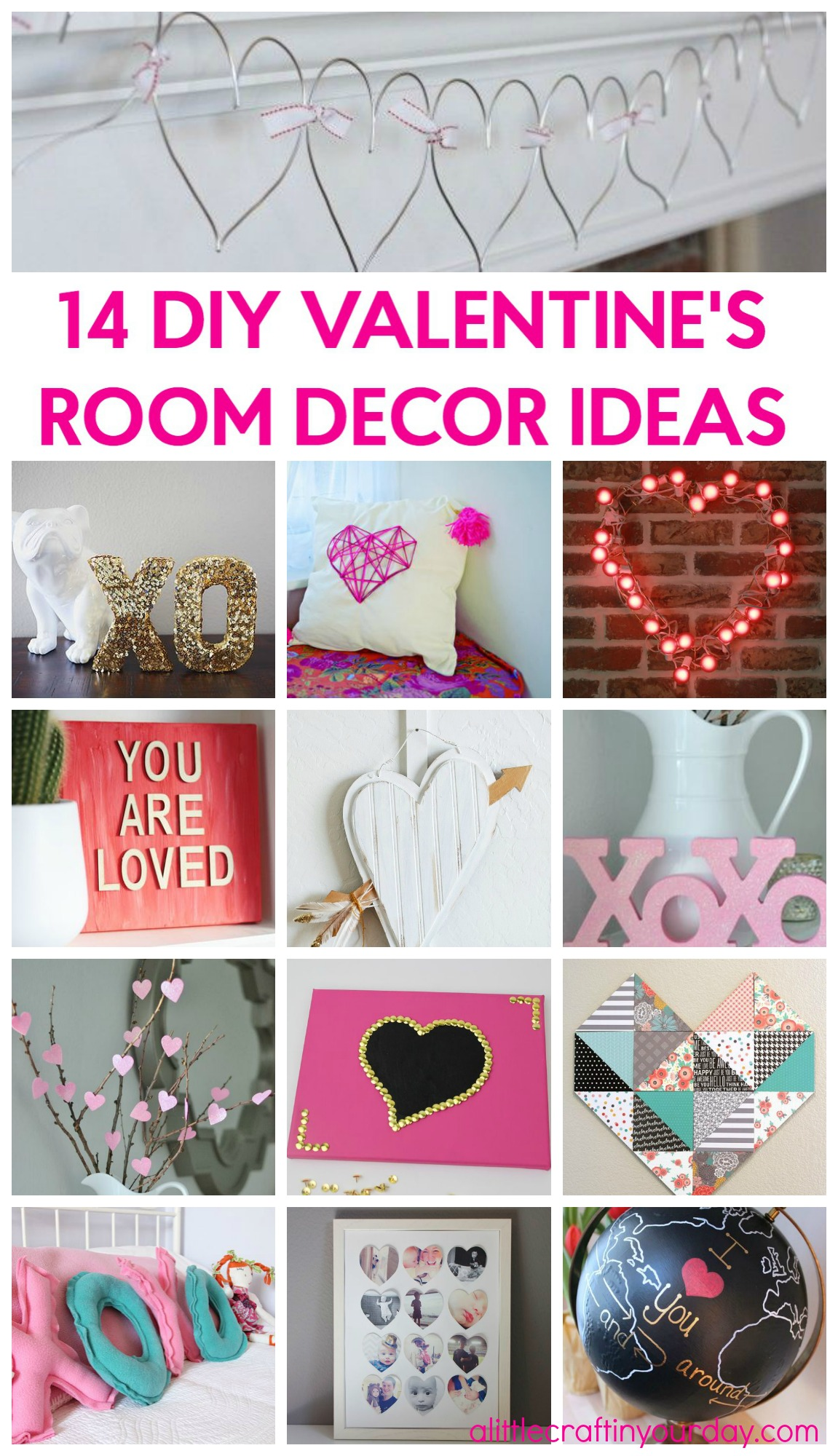 14 valentine 39 s room decor ideas a little craft in your day for Room decor ideas for valentines day