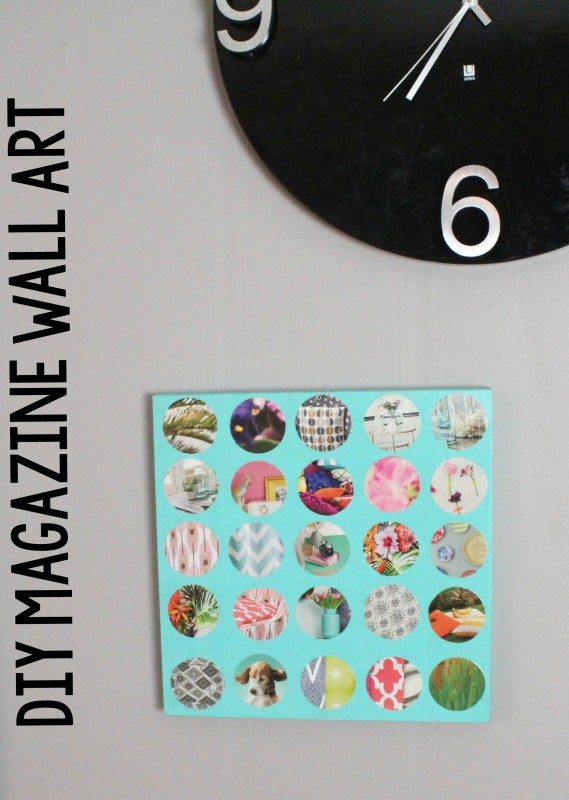 Diy magazine wall art a little craft in your day - Magazine wall decor ...