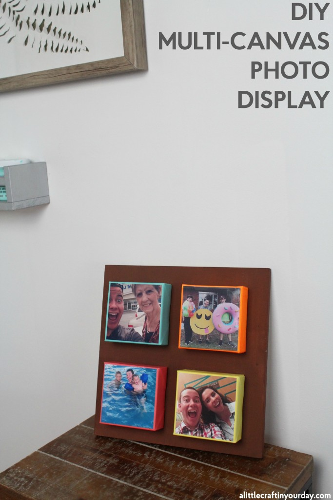 Diy multi canvas photo display a little craft in your for Multi canvas art diy