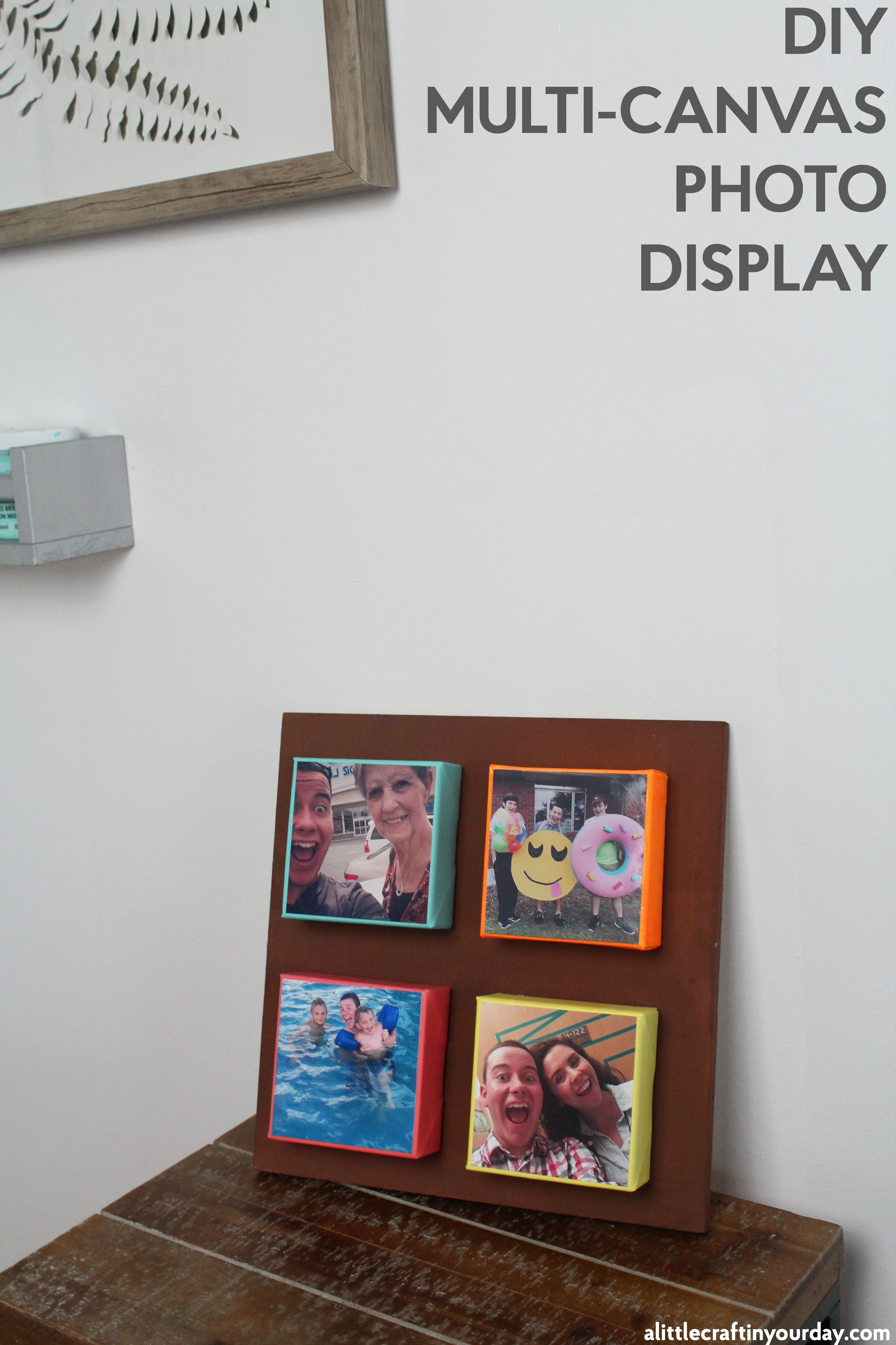Diy multi canvas photo display a little craft in your day for Multi canvas art diy