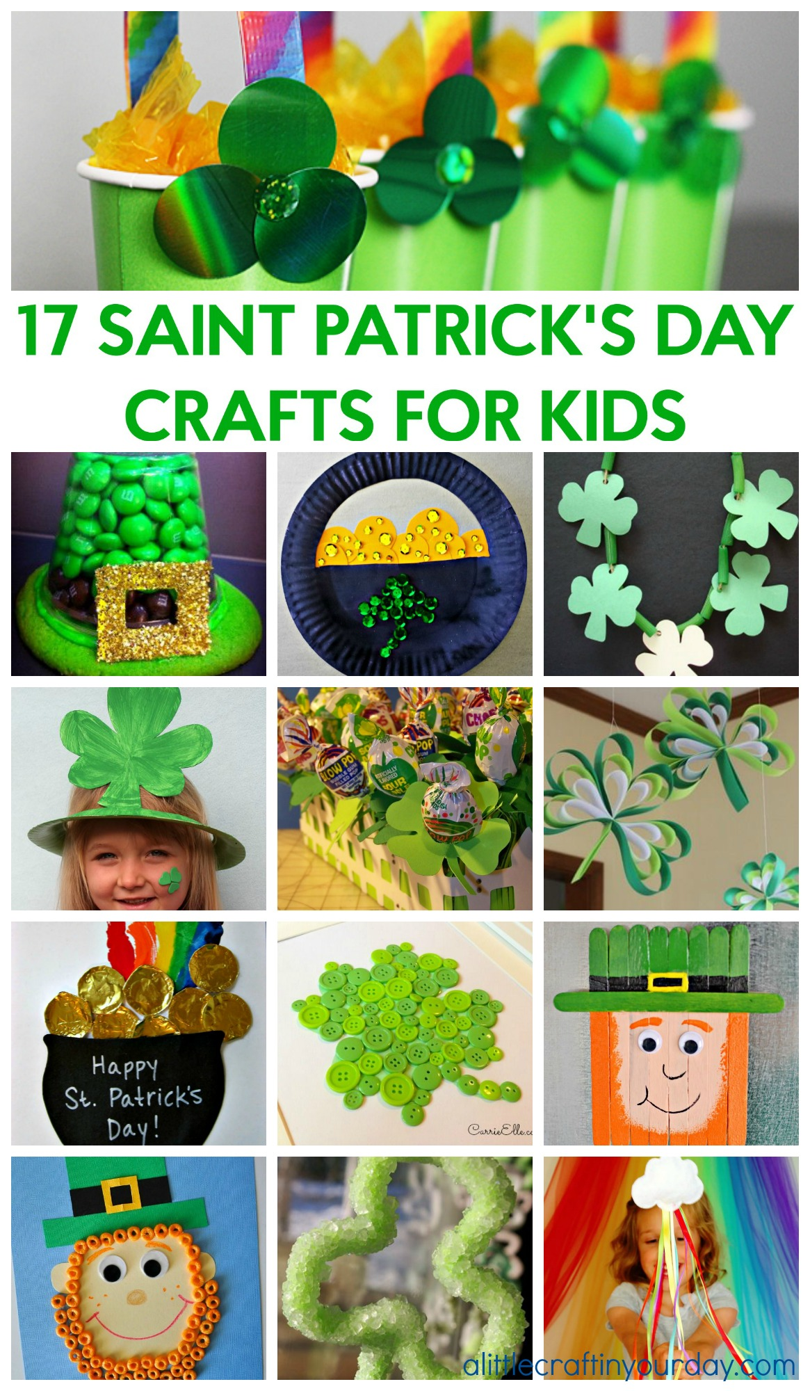 17 Saint Patrick's Day Crafts for Kids - A Little Craft In ...