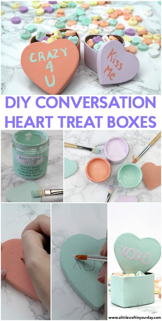 DIY Conversation Heart Treat Boxes - A Little Craft In Your DayA ...