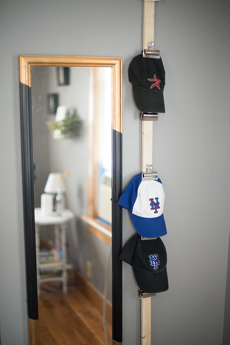diy baseball cap storage a little craft in your day