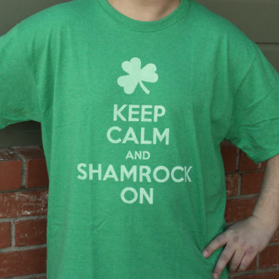"DIY ""Keep Calm and Shamrock On"" Shirt thumbnail"