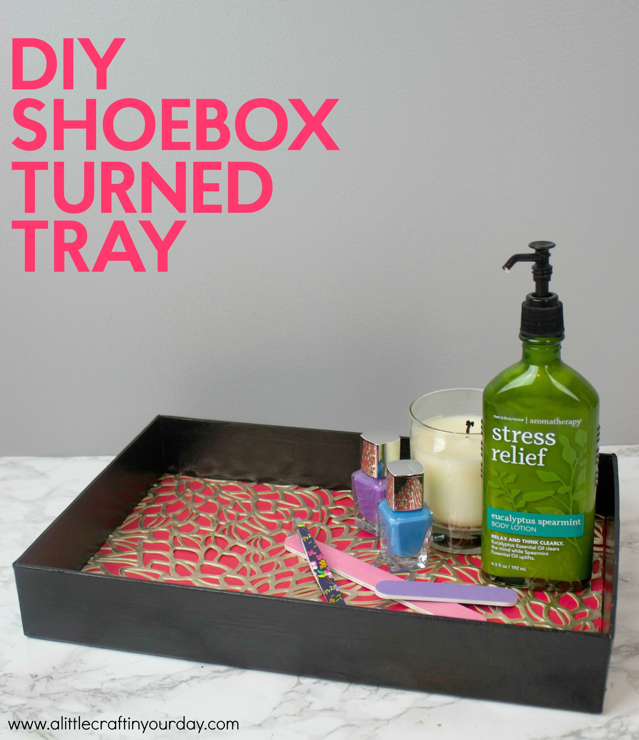 diy shoebox tray a little craft in your day