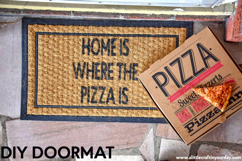 Home is where the pizza is doormat & Home is Where the Pizza is