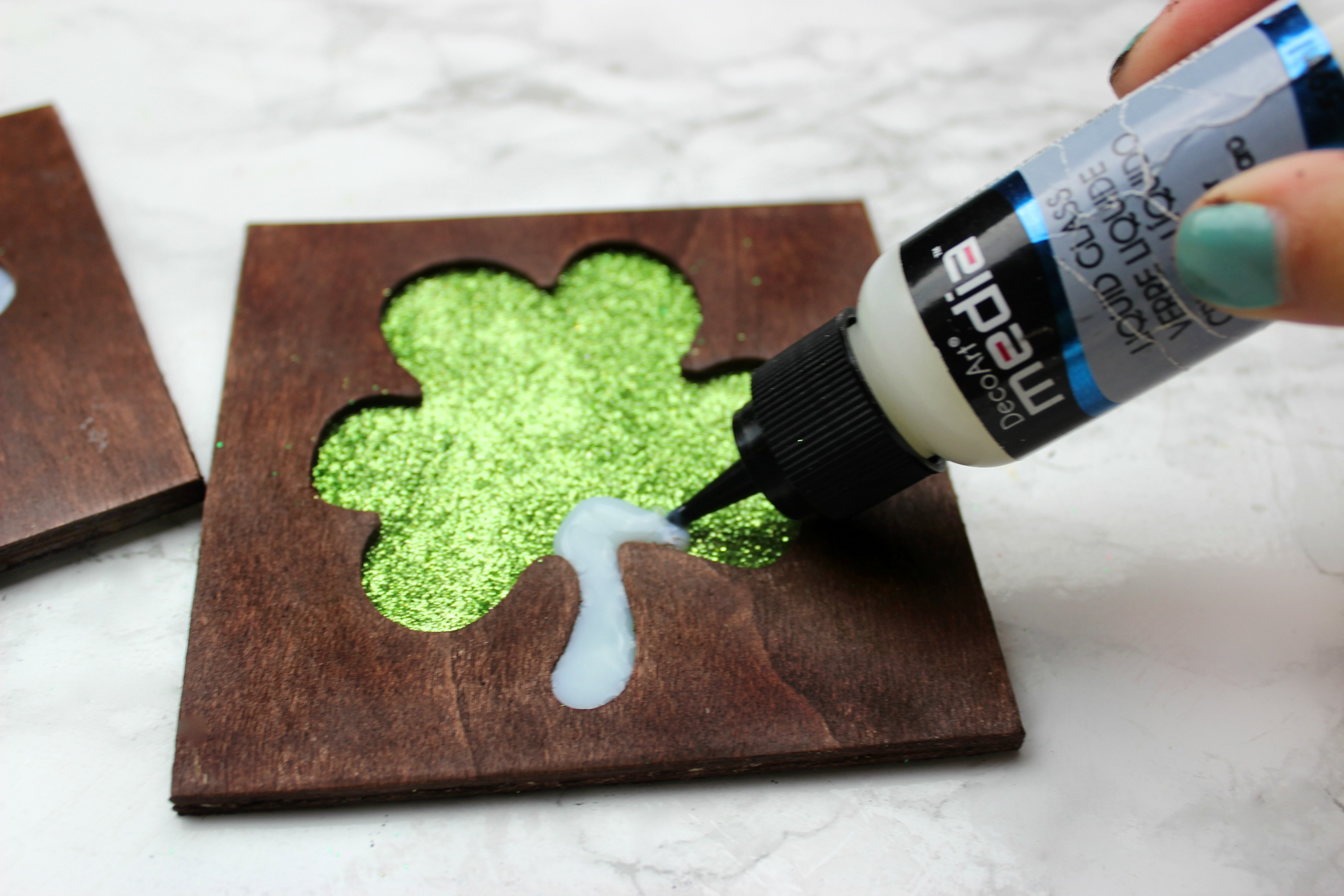 DIY St Patrick\'s Day Shamrock Coasters - A Little Craft In Your Day