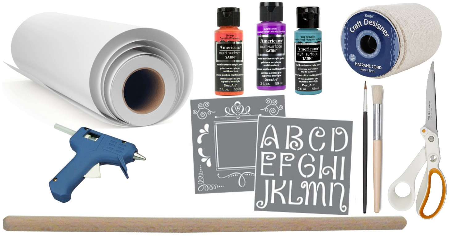 Diy Stenciled Banner Wall Decor A Little Craft In Your Day