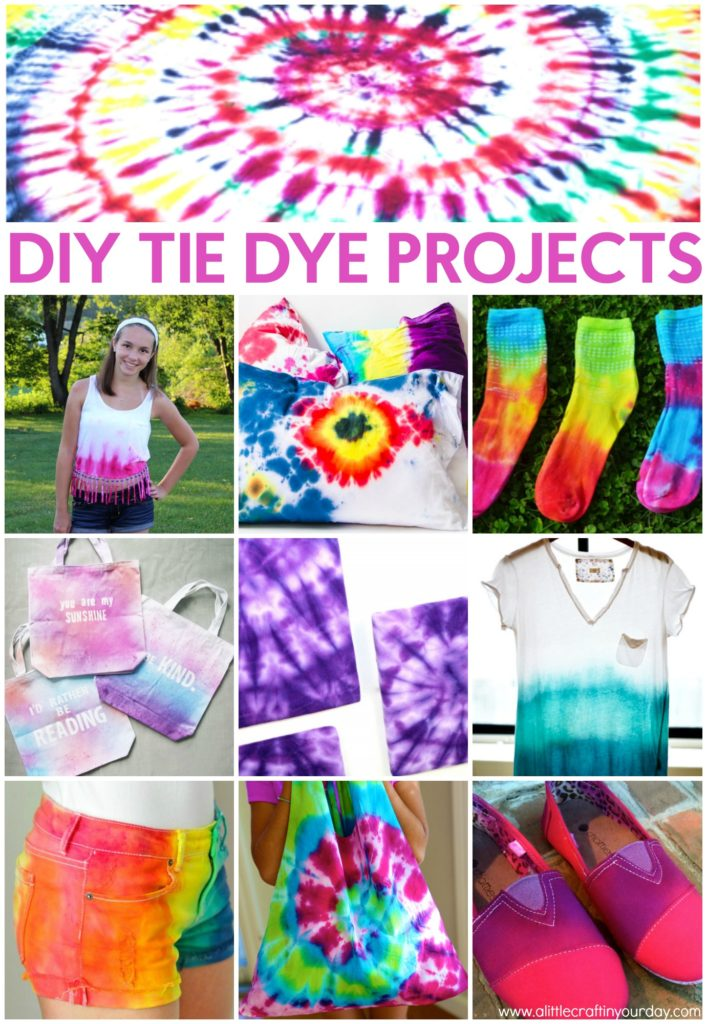 Diy Tie Dye Projects A Little Craft In Your Daya Little