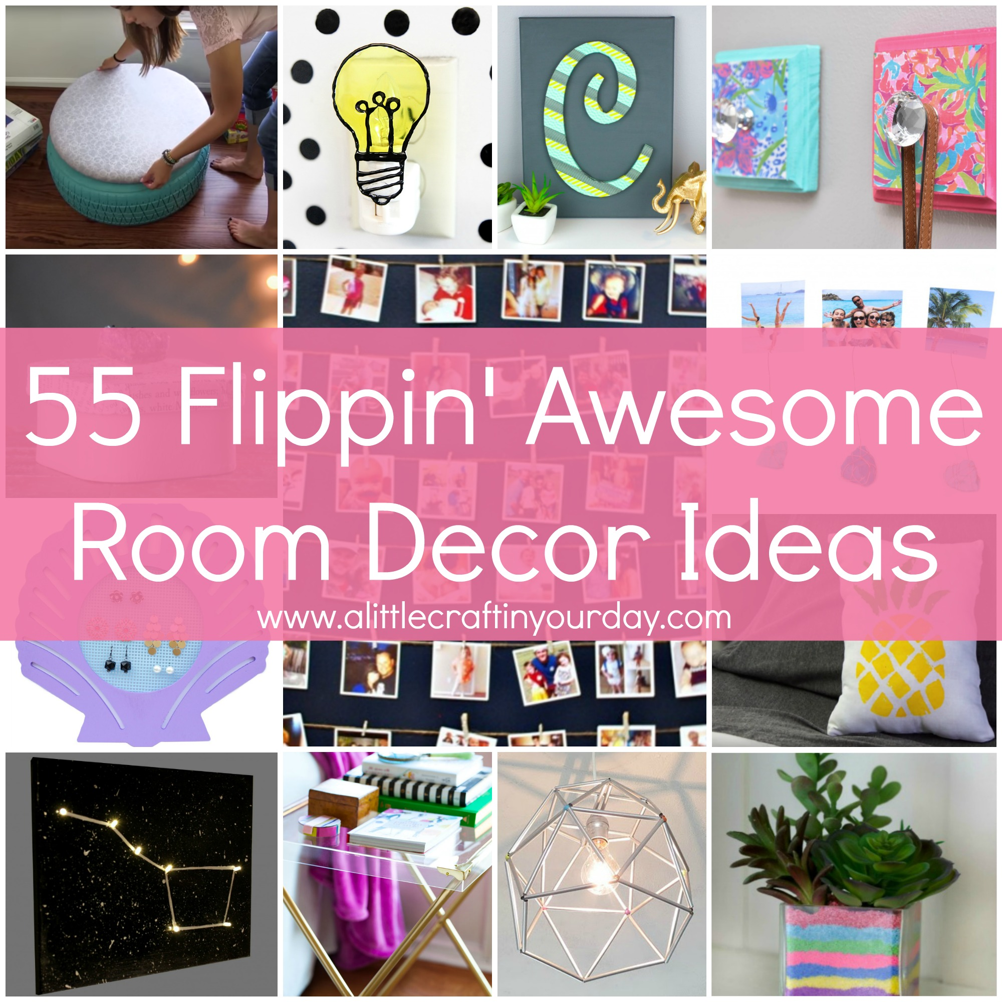 55 Flippin\' Awesome Room Decor Ideas! - A Little Craft In Your Day