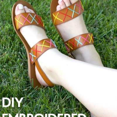 DIY Embroidered Sandals thumbnail