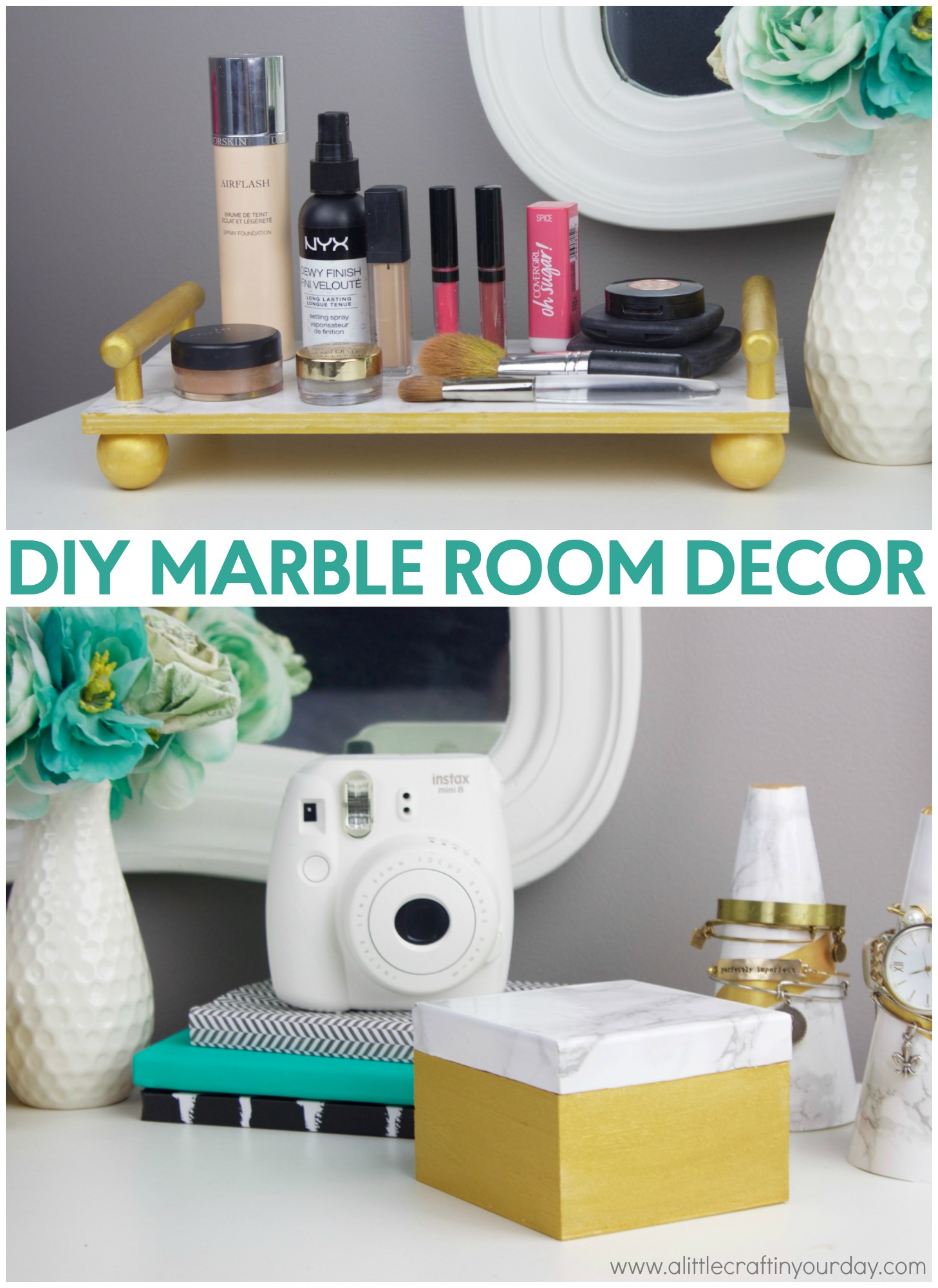 Diy marble room decor a little craft in your day for Apartment accessories