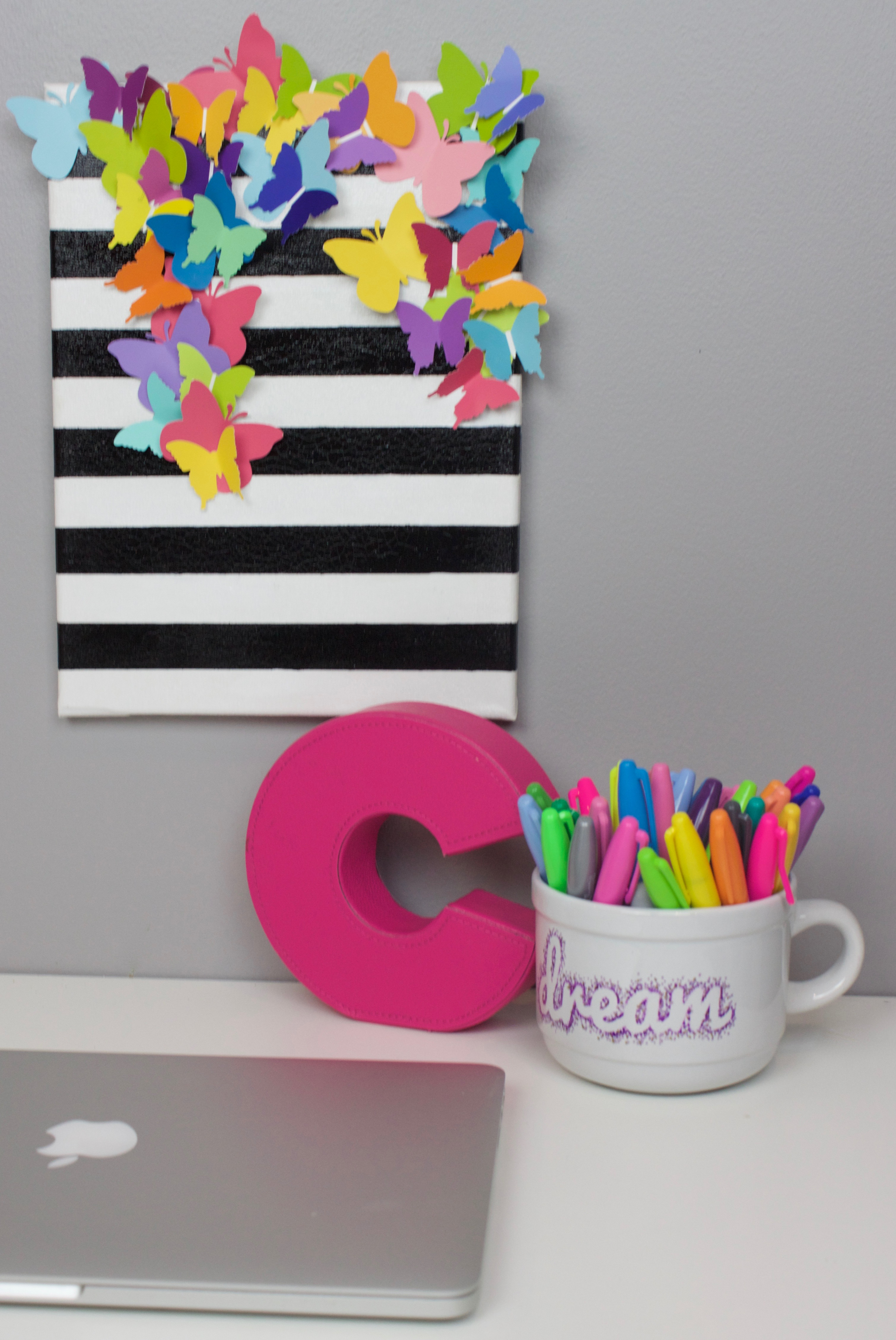 craft ideas with canvas diy striped butterfly canvas a craft in your day 3967