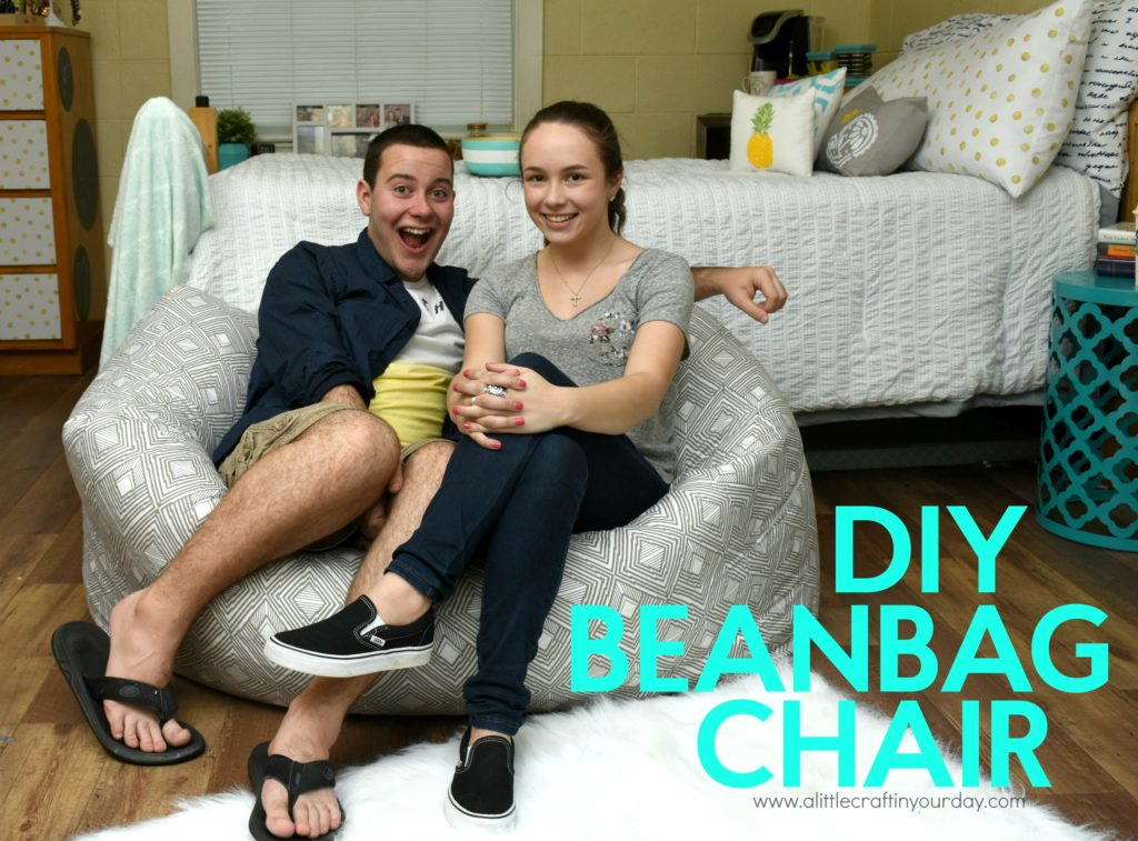 diy bean bag chair a little craft in your daya little craft in your day. Black Bedroom Furniture Sets. Home Design Ideas
