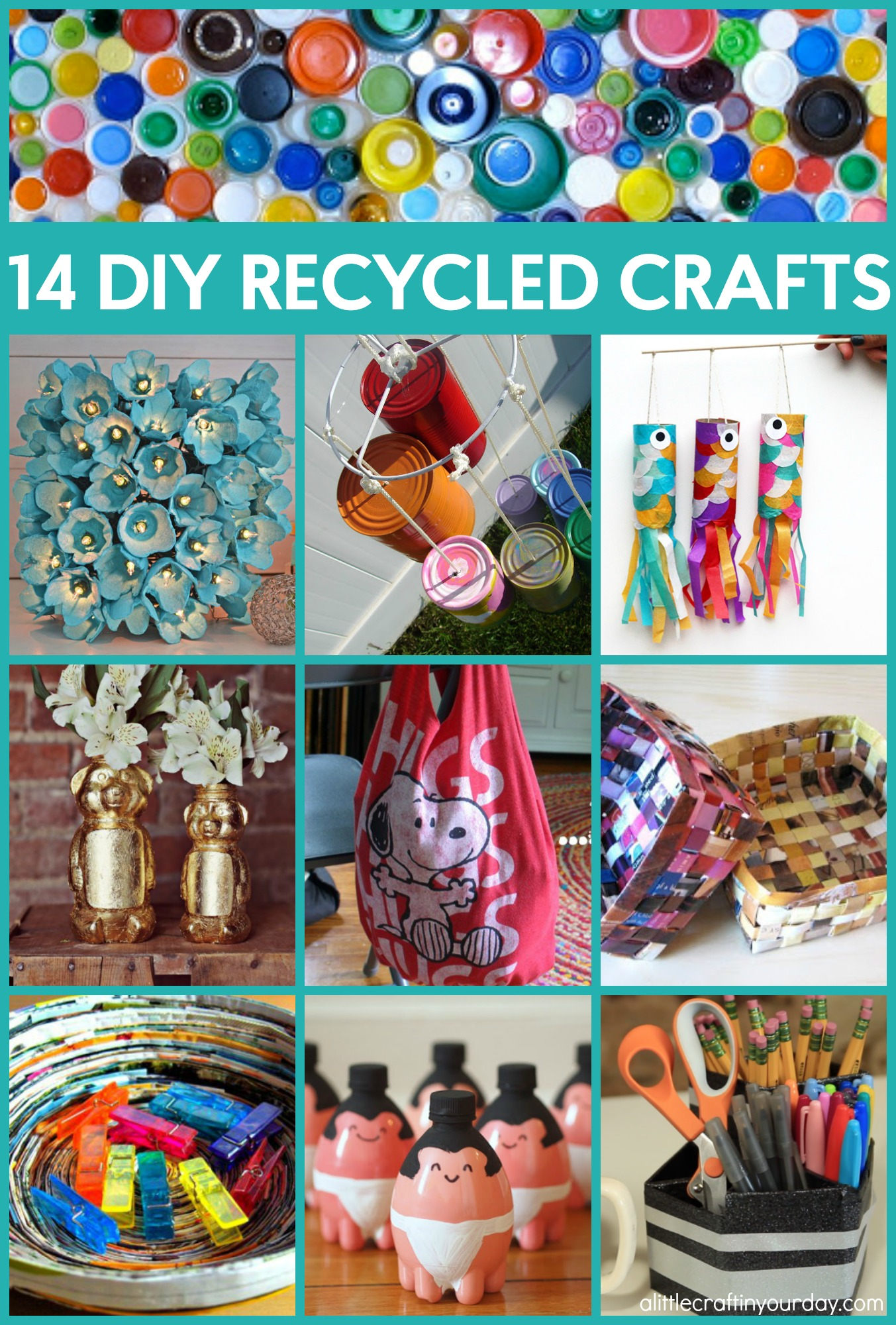 14 DIY Recycled Crafts That Will Help The Earth - A Little ...
