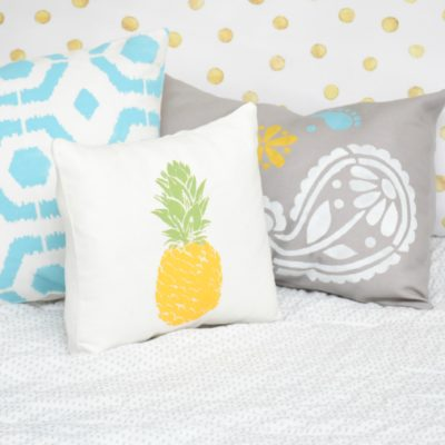 How to Sew and Stencil Pillows thumbnail
