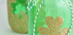 shamrock-tinted-mason-jar-craft-idea