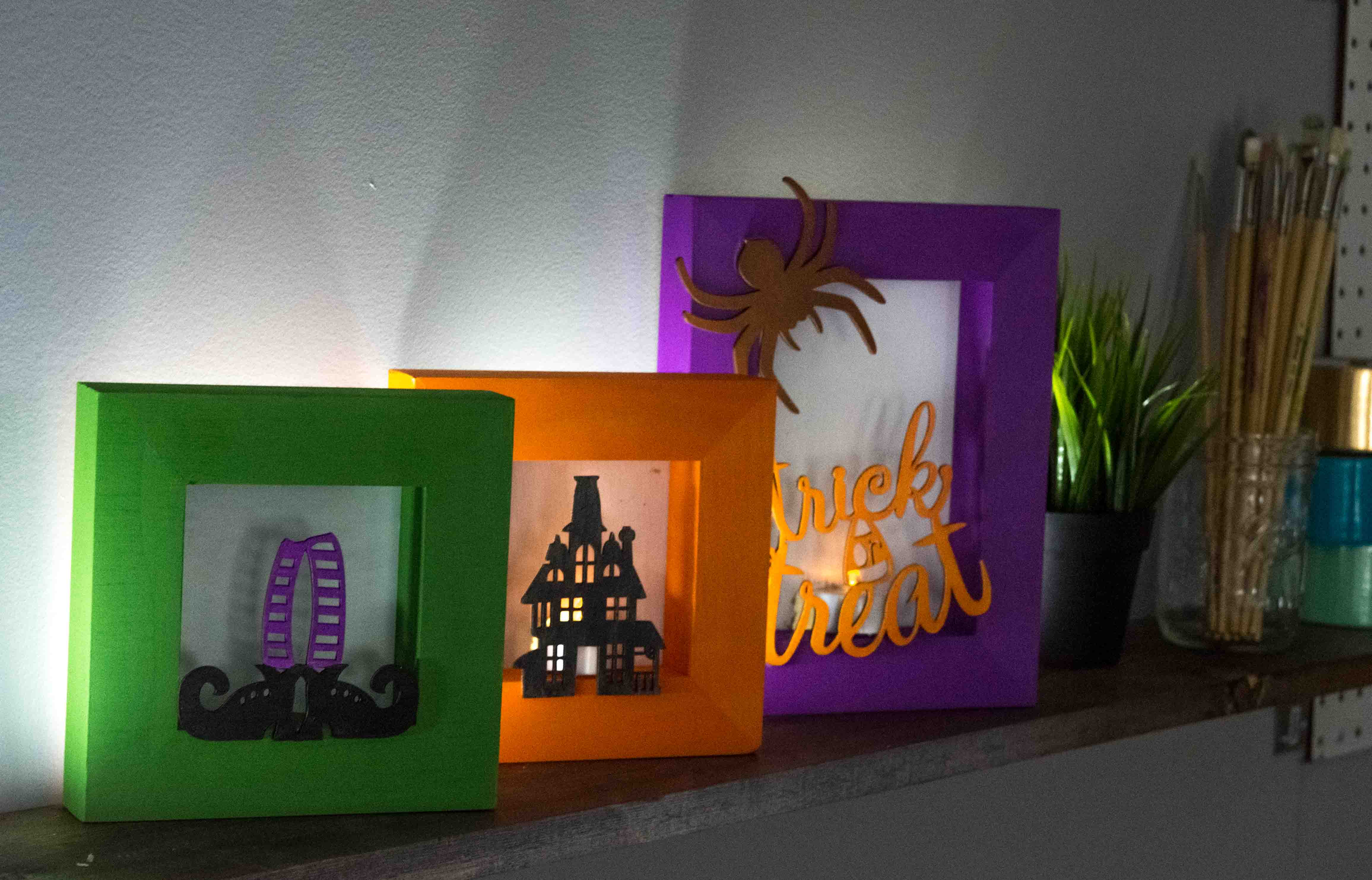Halloween Shadow Box Luminaries - A Little Craft In Your Day
