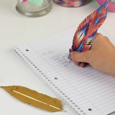 Duck Tape Feather Pens thumbnail