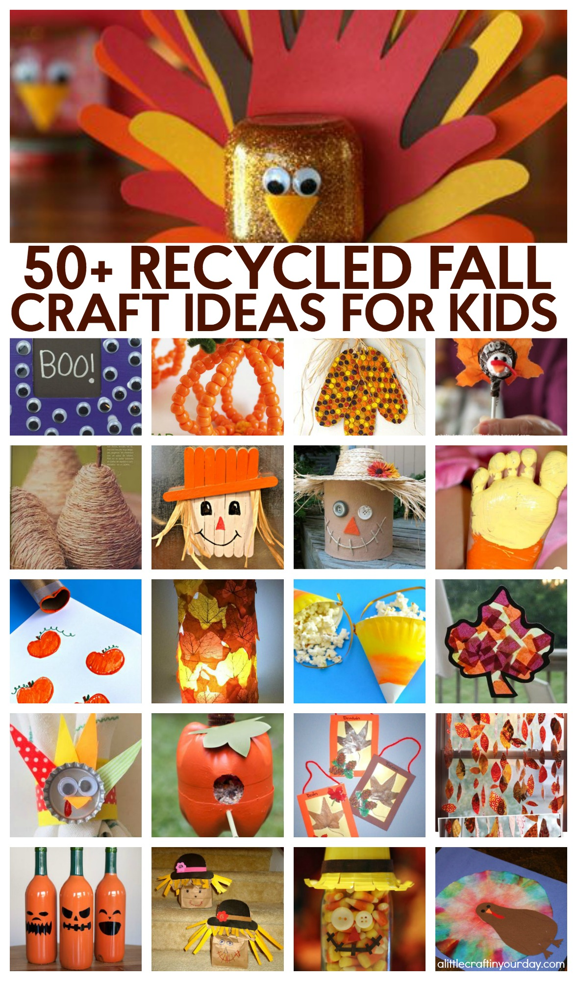 51 Recycled Fall Kids Crafts - A Little Craft In Your Day