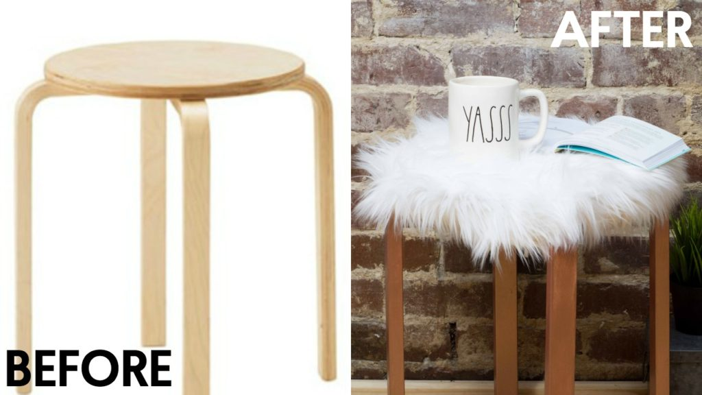 Diy Faux Fur Stool A Little Craft In Your Day