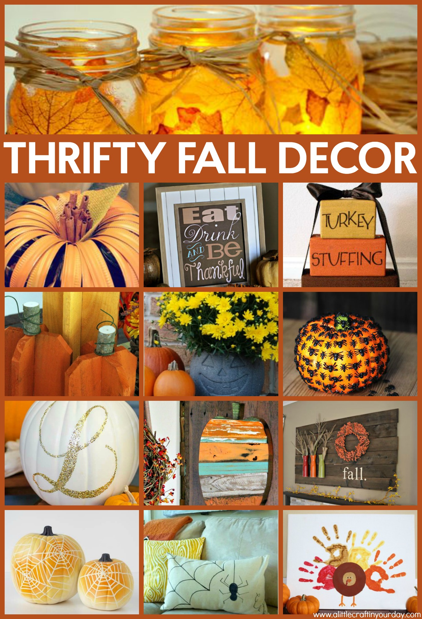 Thrifty fall decor ideas a little craft in your daya for Thrifty decor