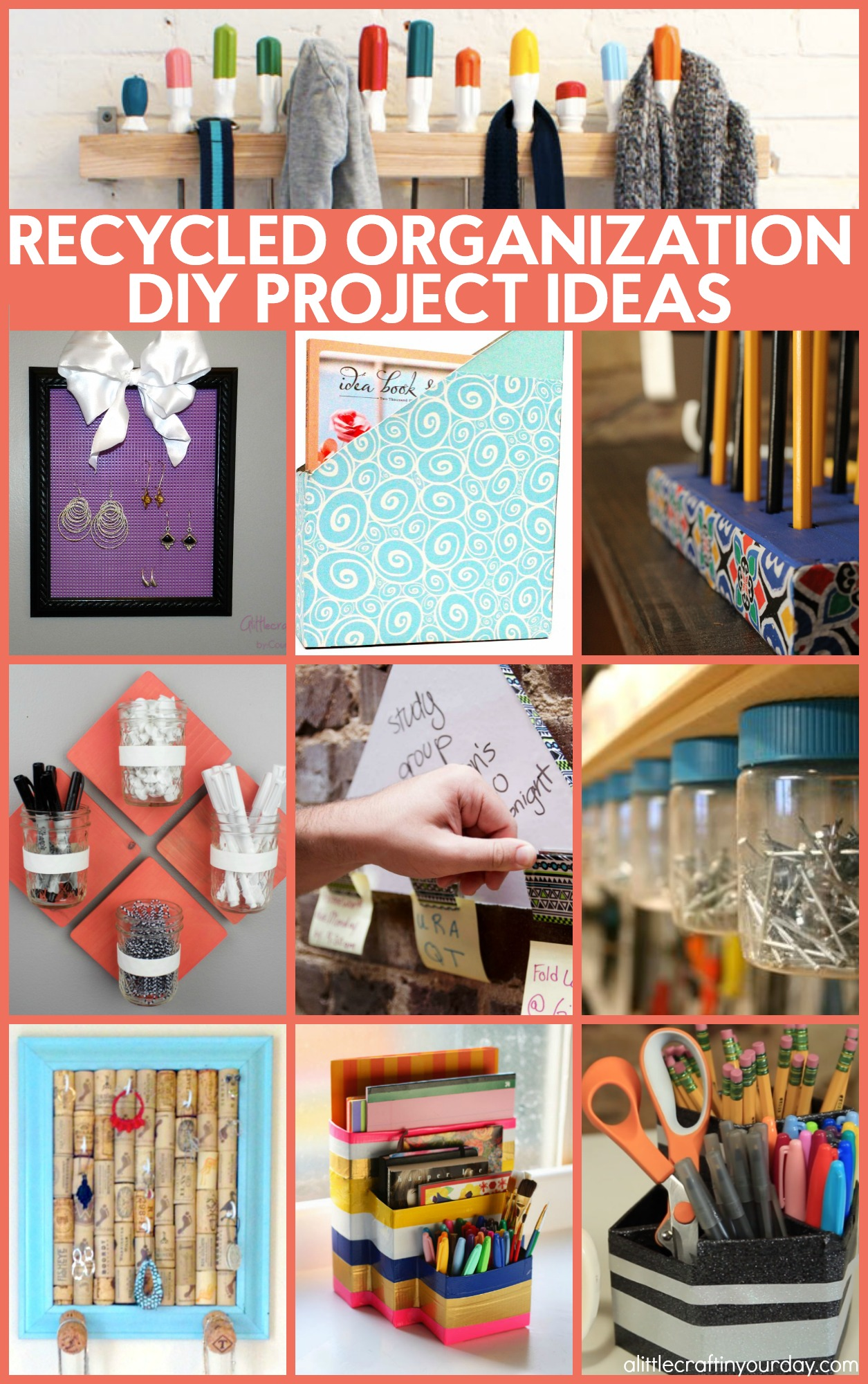 Recycled Diy Organization Ideas A Little Craft In Your Day