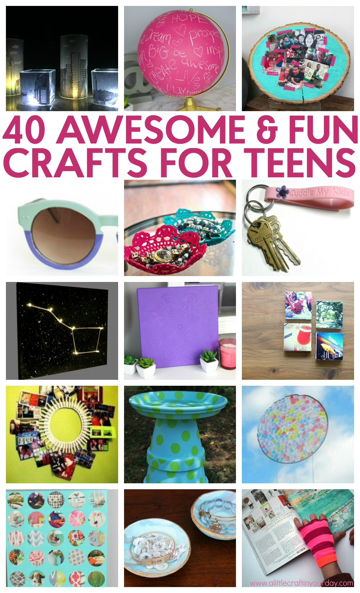 40 awesome teen crafts a little craft in your day for Crafts to do with teens