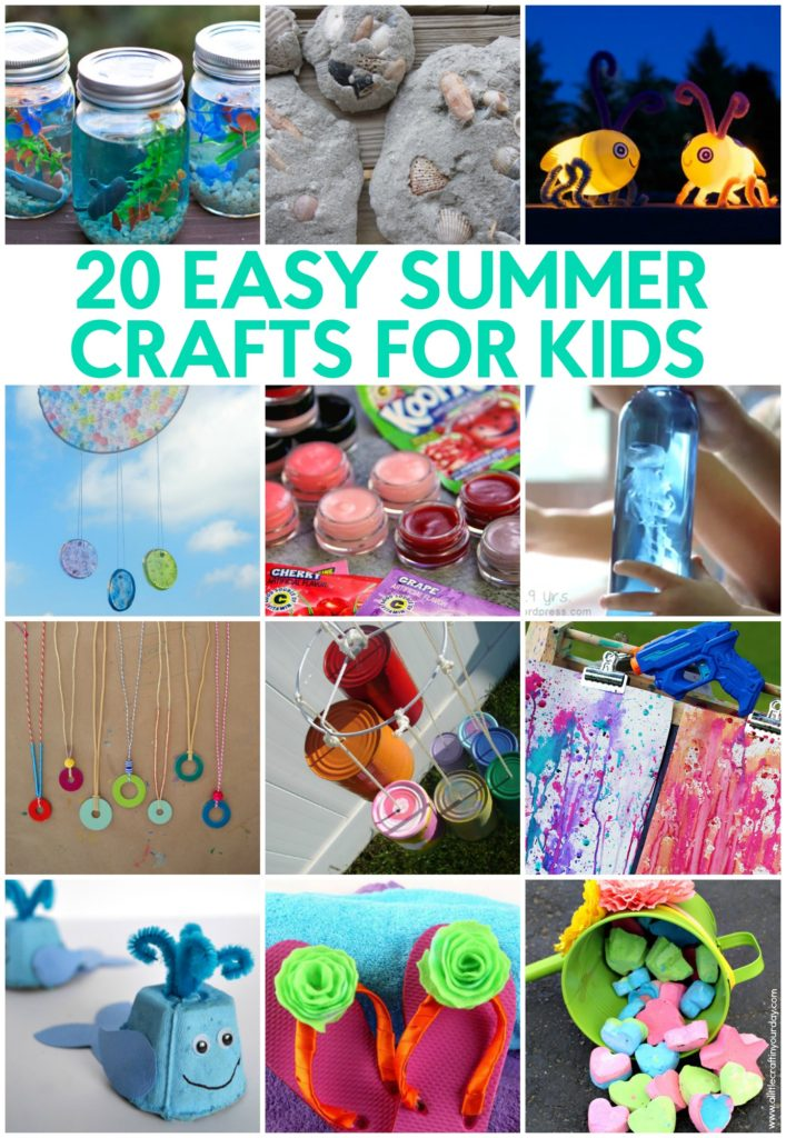 20 easy summer crafts for kids a little craft in your for Quick crafts for kids