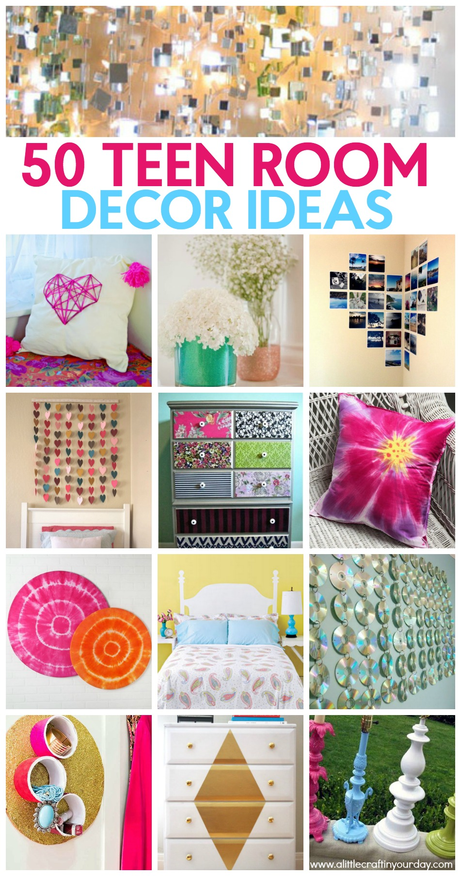 50 teen girl room decor ideas a little craft in your day - Bedroom wall decoration ideas for teens ...