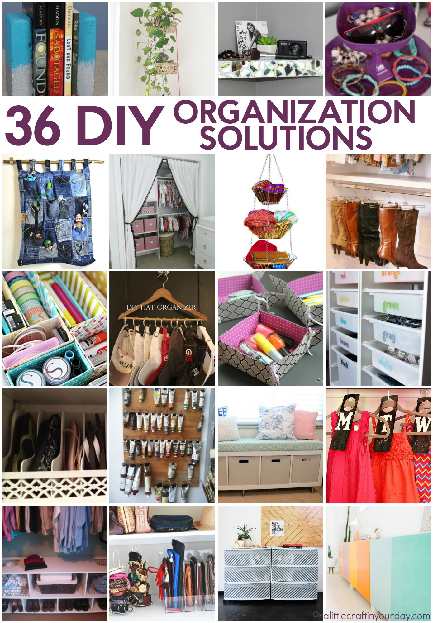 36 Diy Organization Solutions A Little Craft In Your Day
