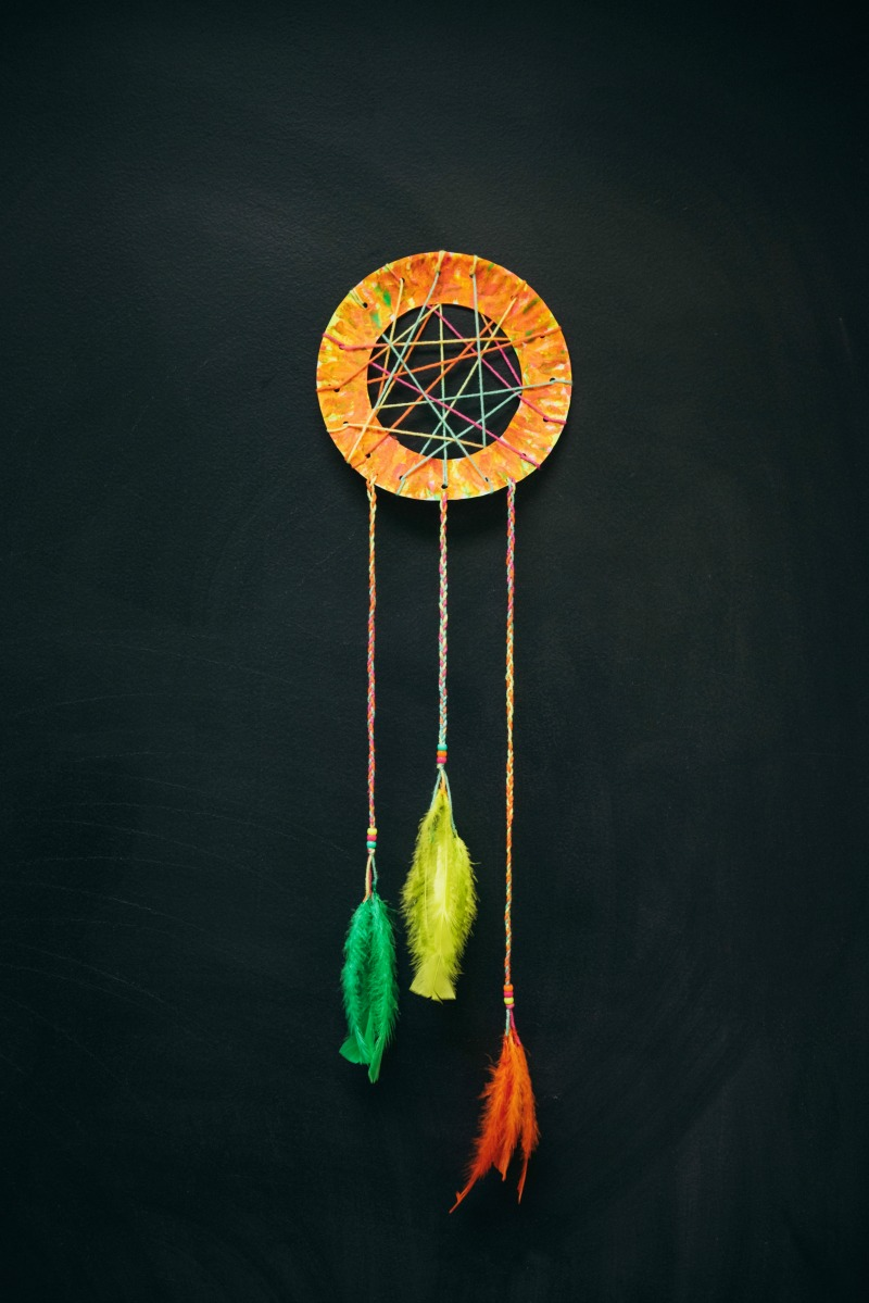How to make dream catcher with paper plate