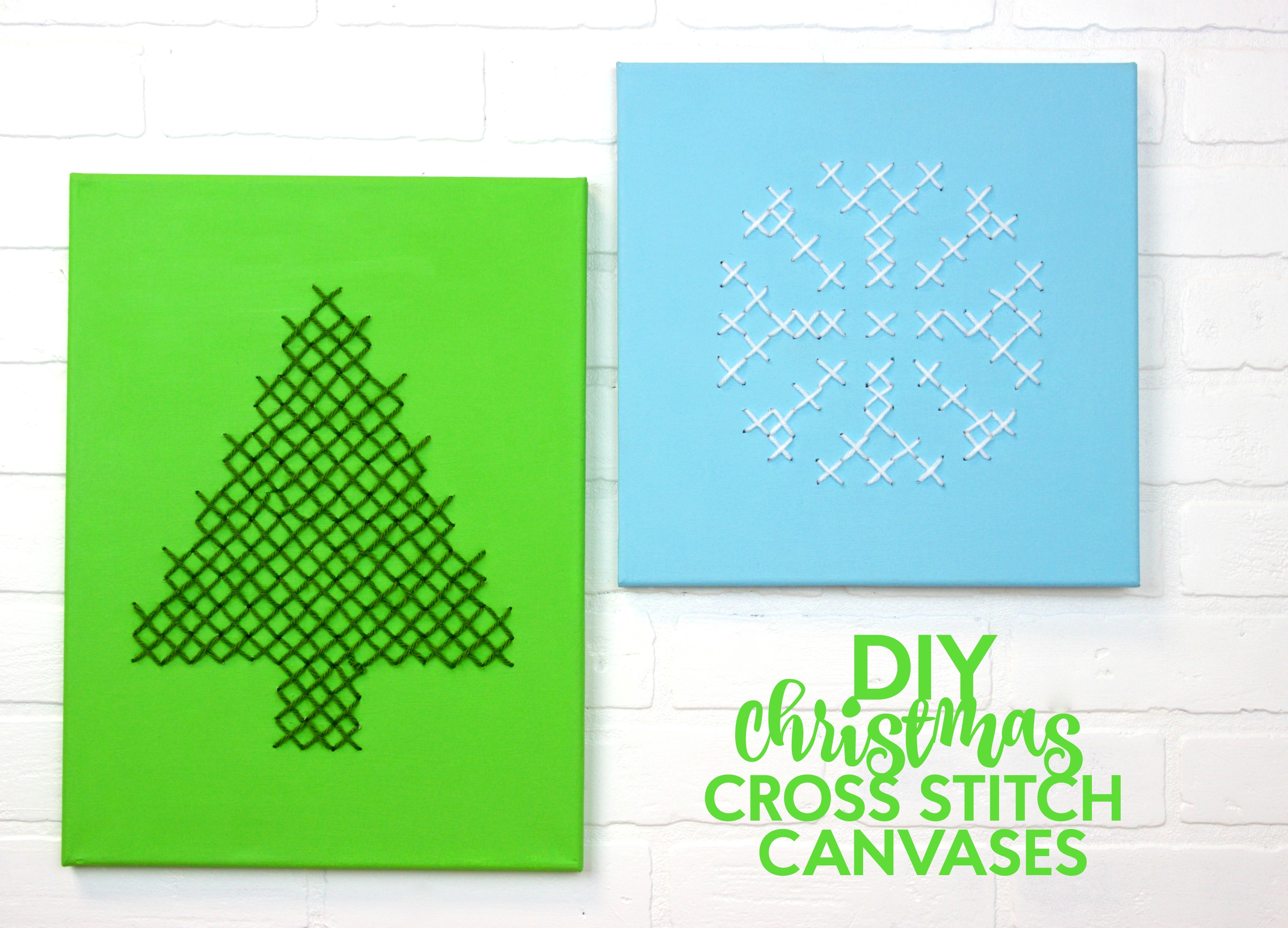 Fast diy christmas gifts with canvas