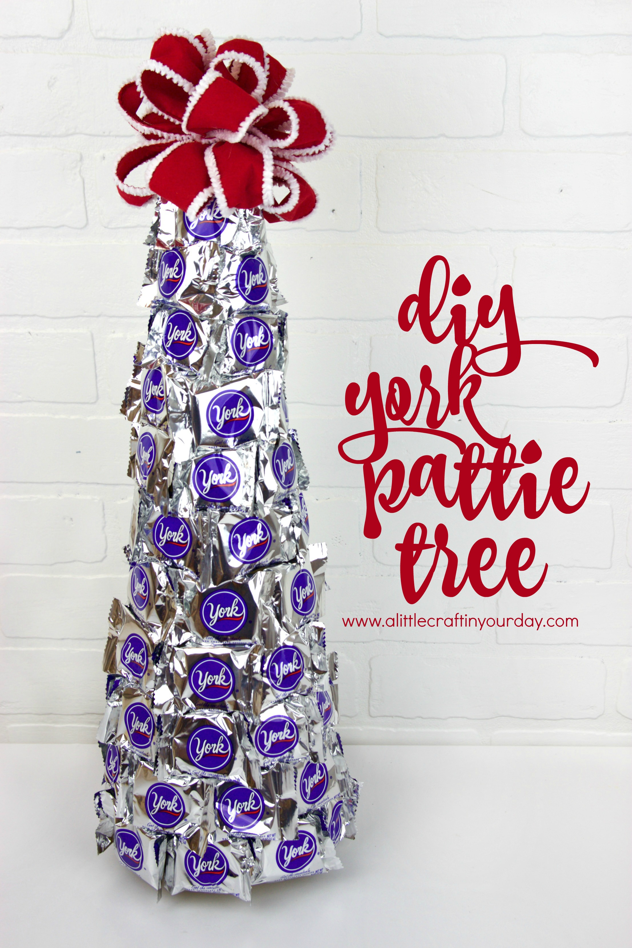 DIY Peppermint Pattie Christmas Tree A Little Craft In Your Day
