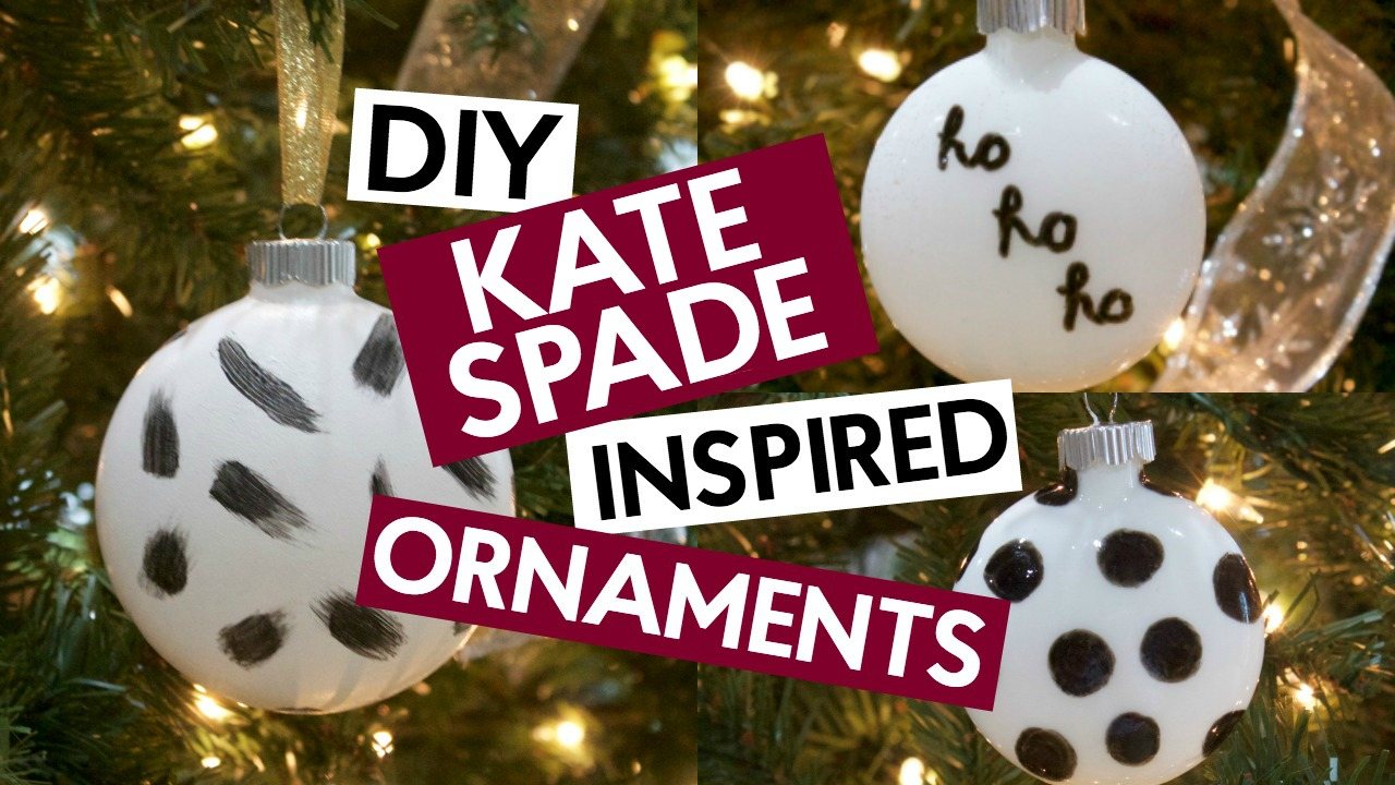 DIY Kate Spade Inspired Ornaments - A Little Craft In Your Day