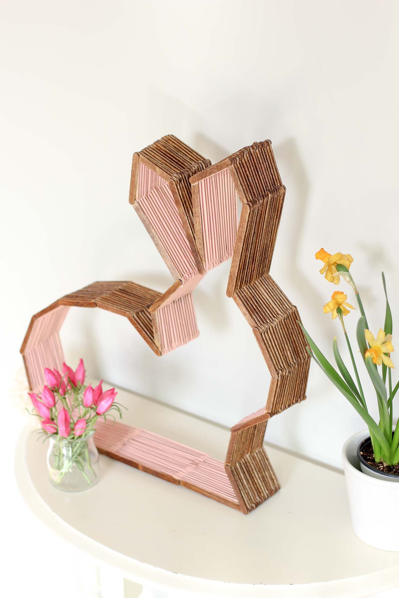 Popsicle Stick Bunny Decor - A Little Craft In Your Day