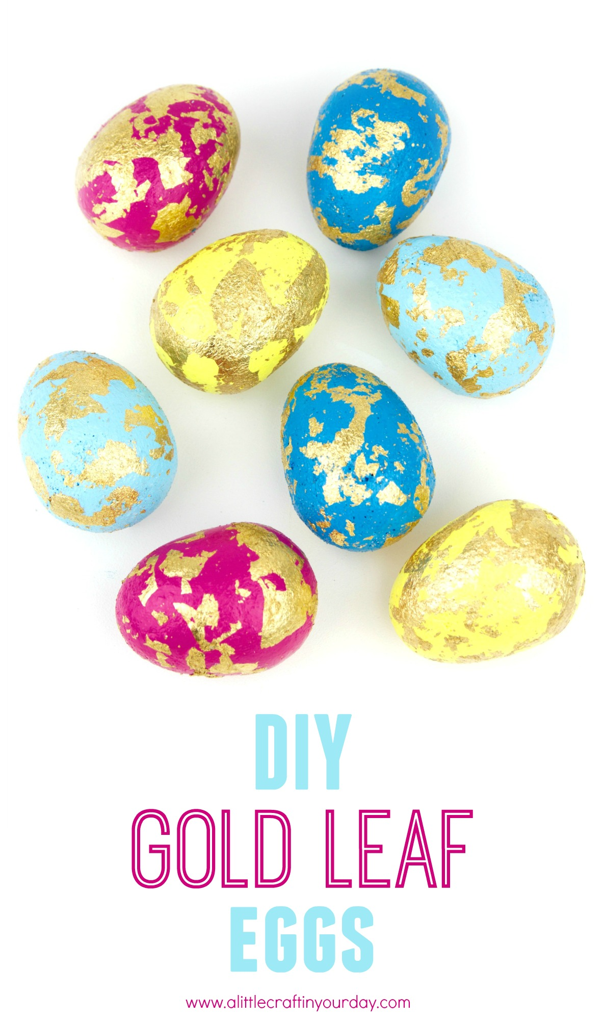 Diy Gold Leaf Easter Eggs A Little Craft In Your Daya