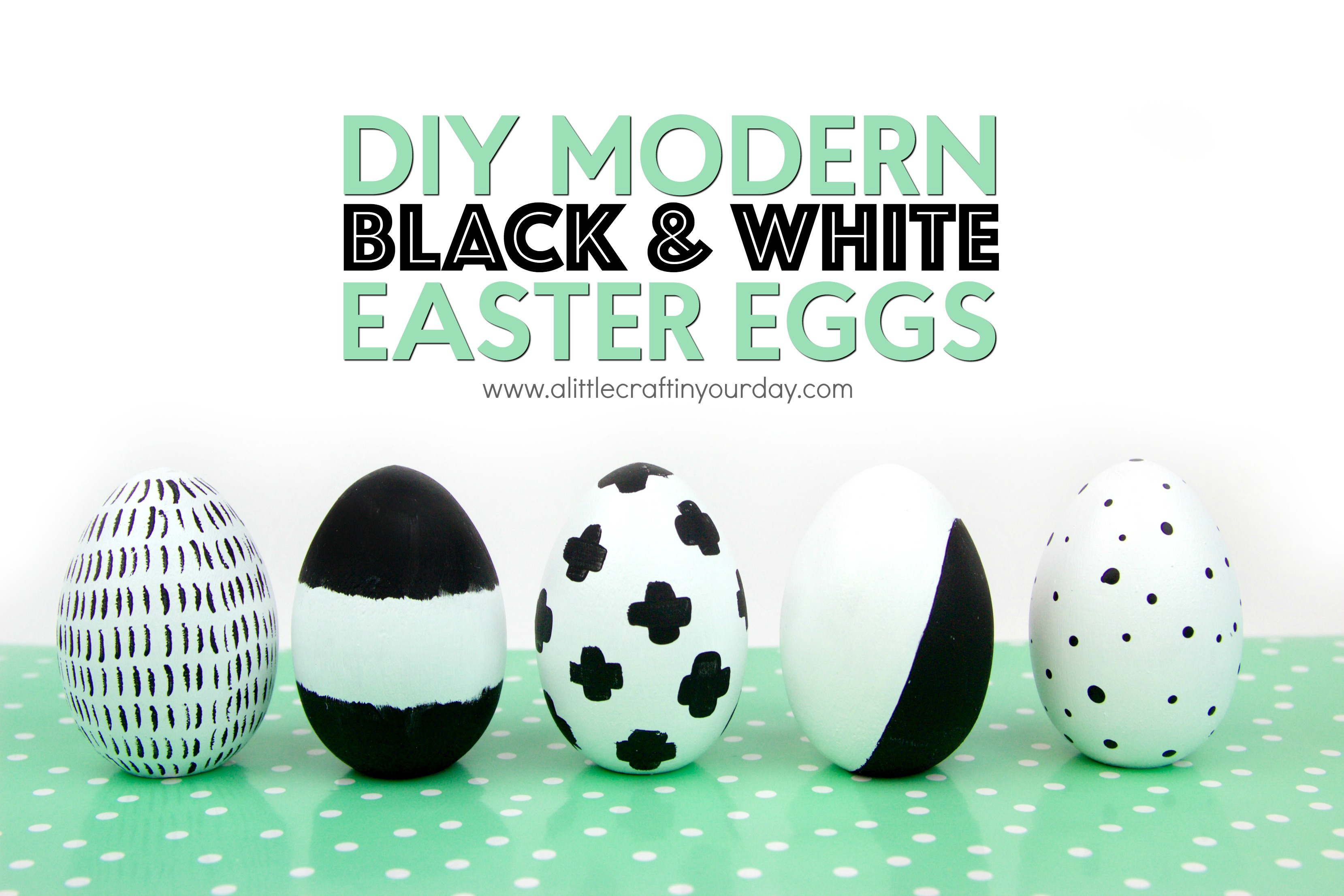 DIY_Modern_Black_and_white_easter_eggs