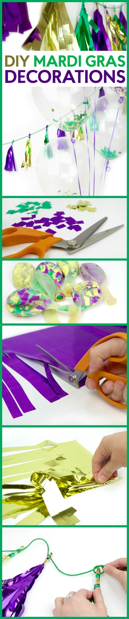 DIY Mardi Gras Decorations A Little Craft In Your Day