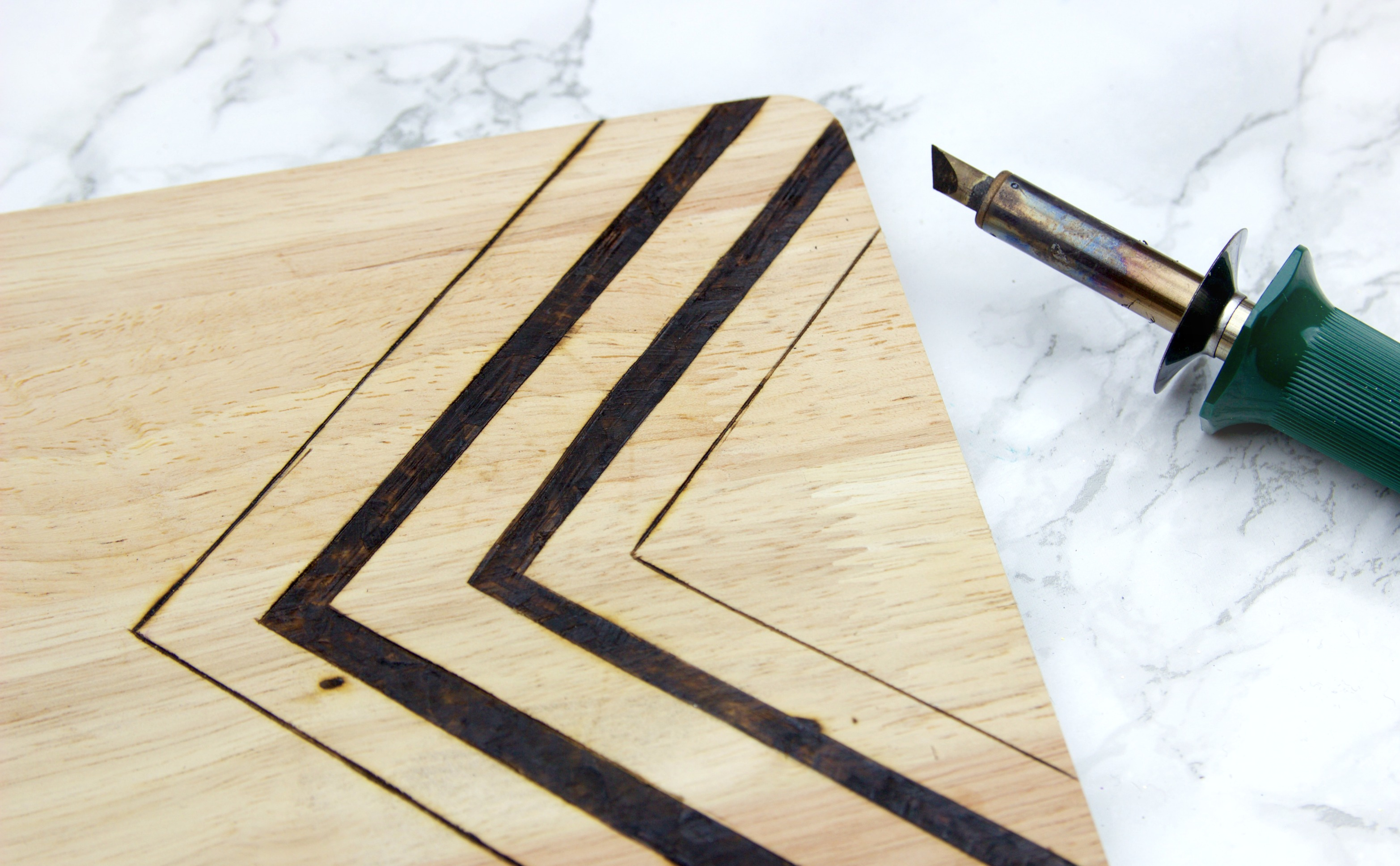 DIY Wood Burned Cutting Board - A Little Craft In Your Day
