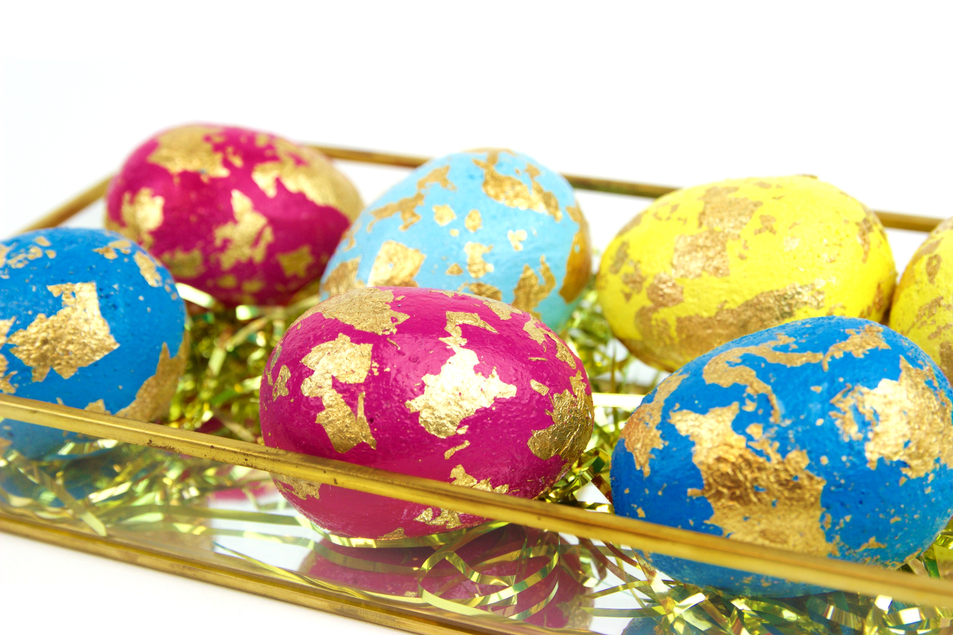 diy gold leaf easter eggs a little craft in your day