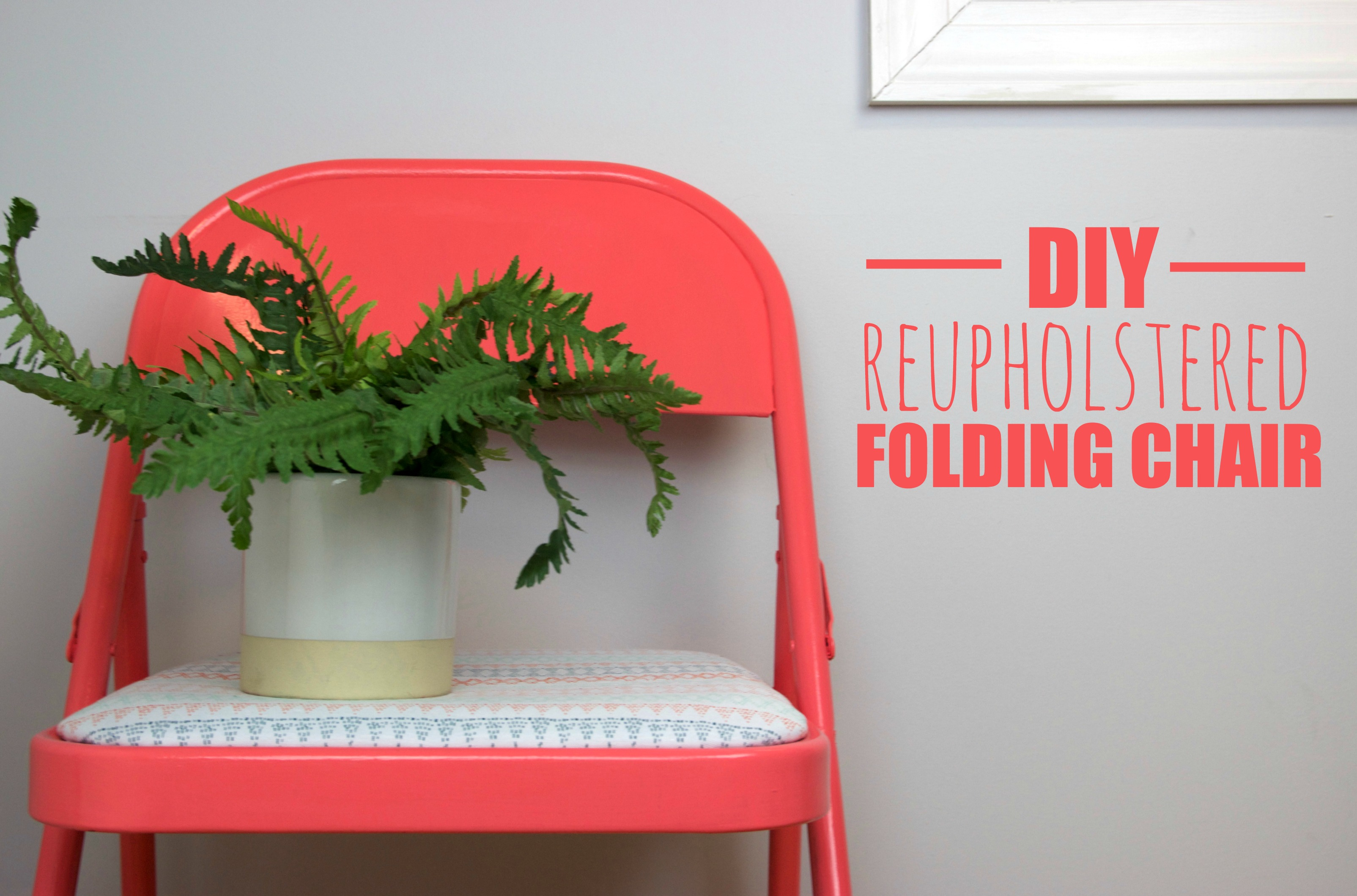 diy_Reupholstered_folding_chair