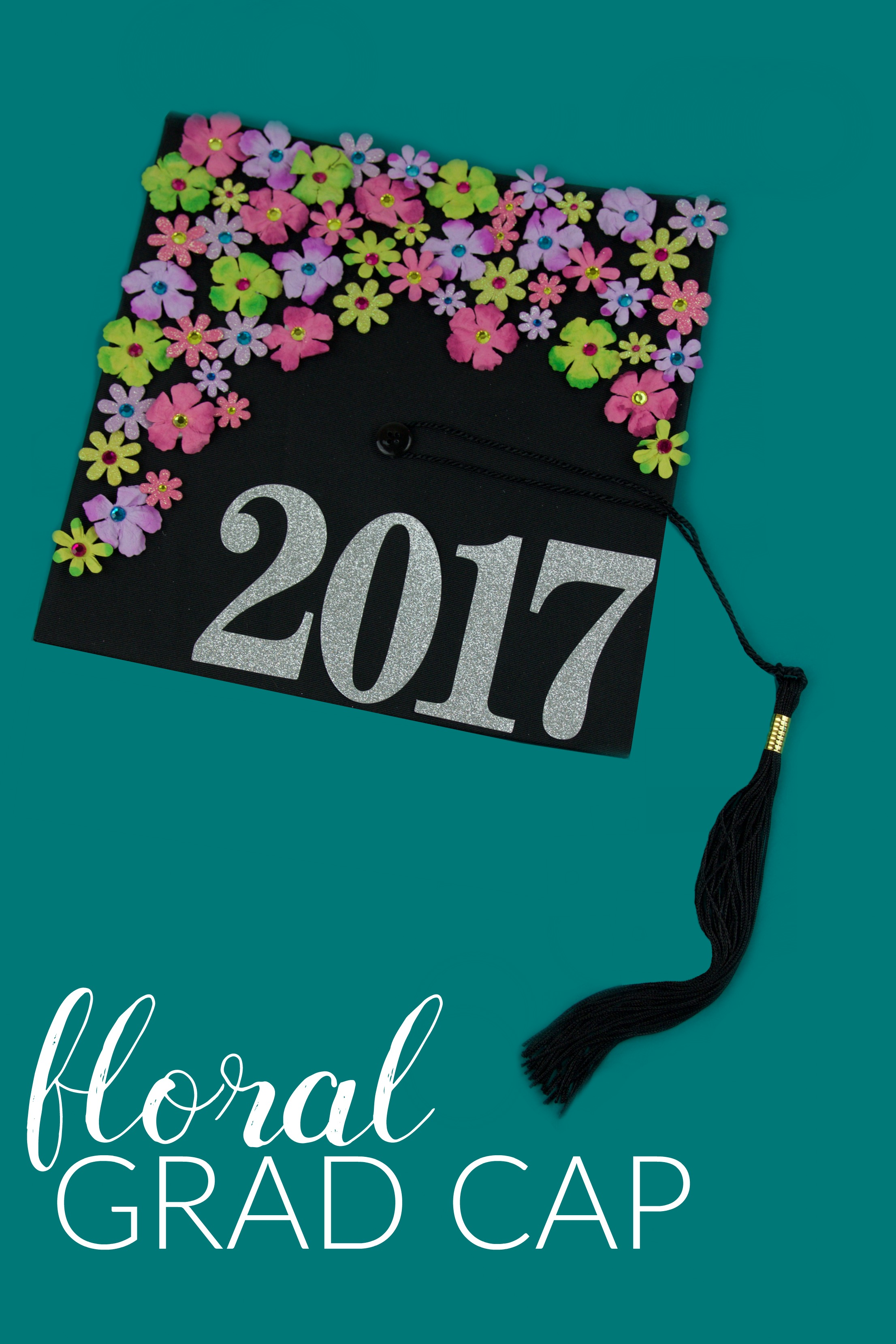 diy_floral_graduation_cap