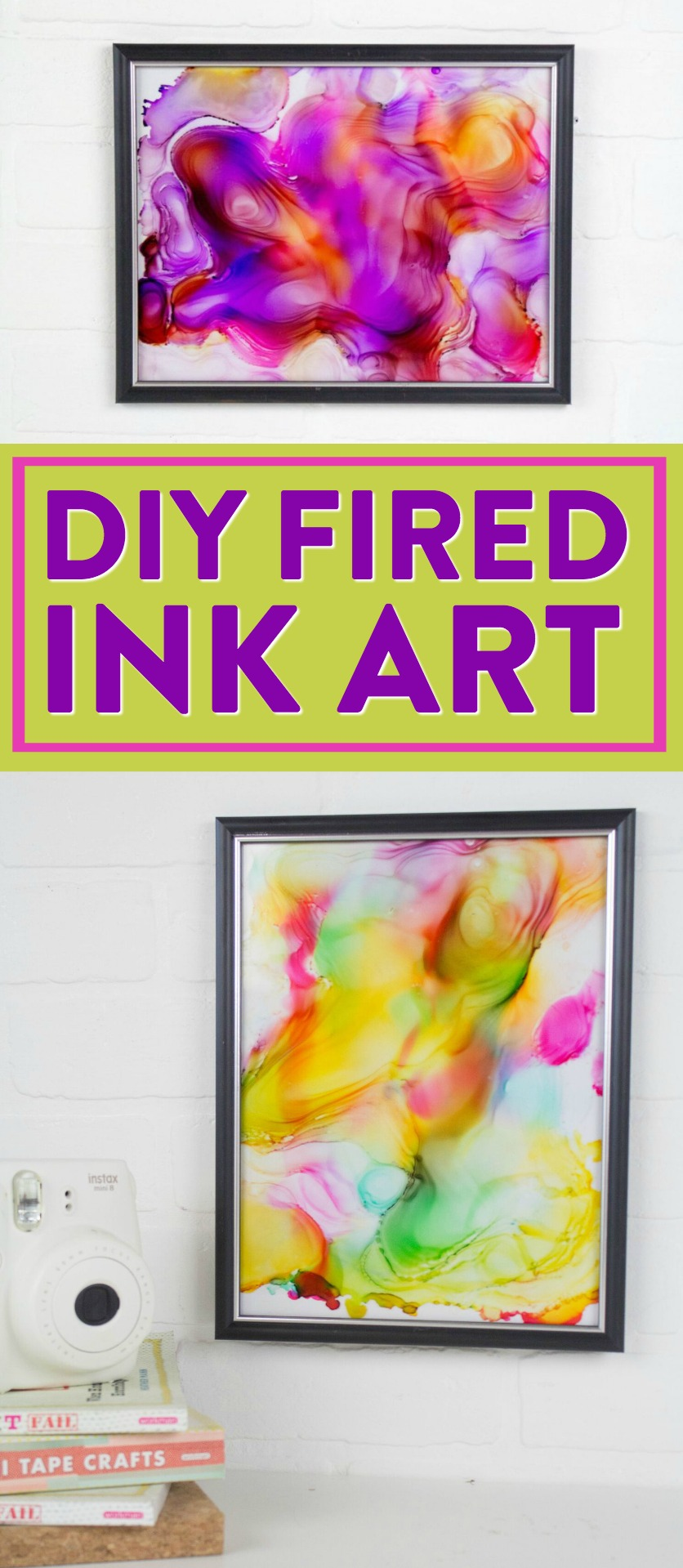 DIY Fired Ink Art - A Little Craft In Your Day