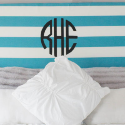 DIY Monogram Headboard thumbnail