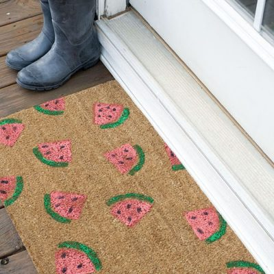 DIY Watermelon Stenciled Doormat thumbnail