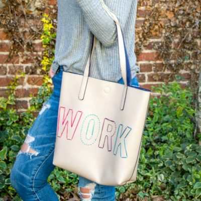 DIY Stitched Leather Tote Bag thumbnail