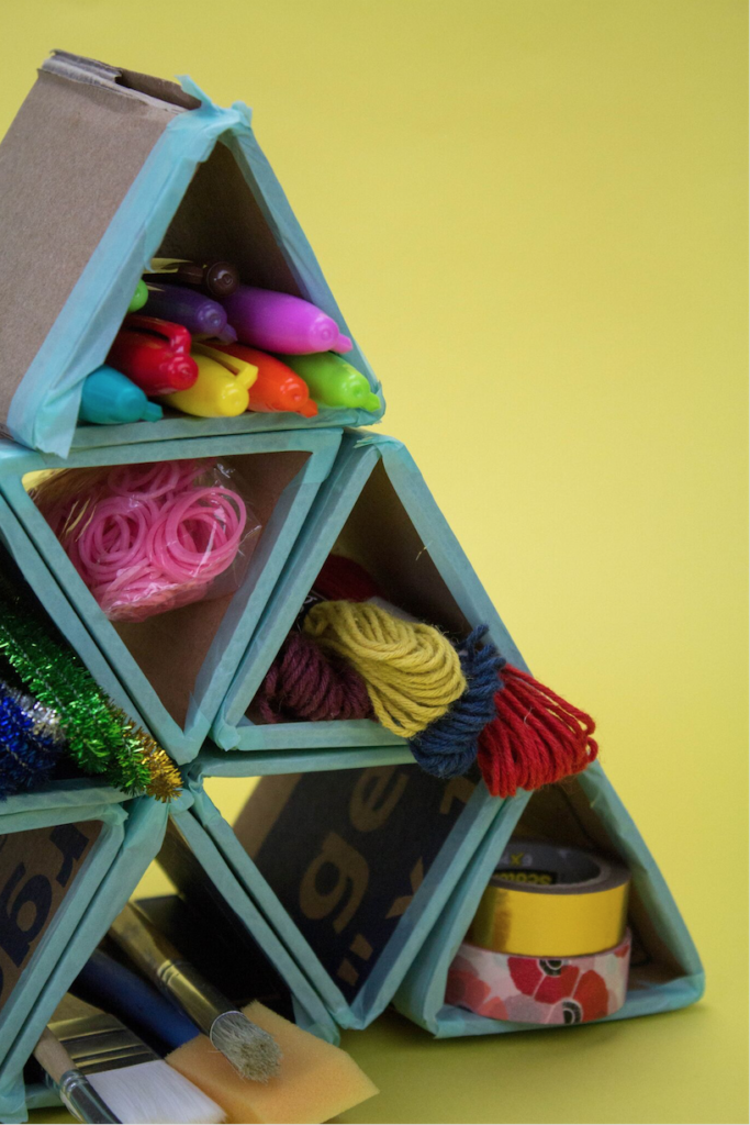 Simple diy cardboard crafts a little craft in your day for Creative recycling projects