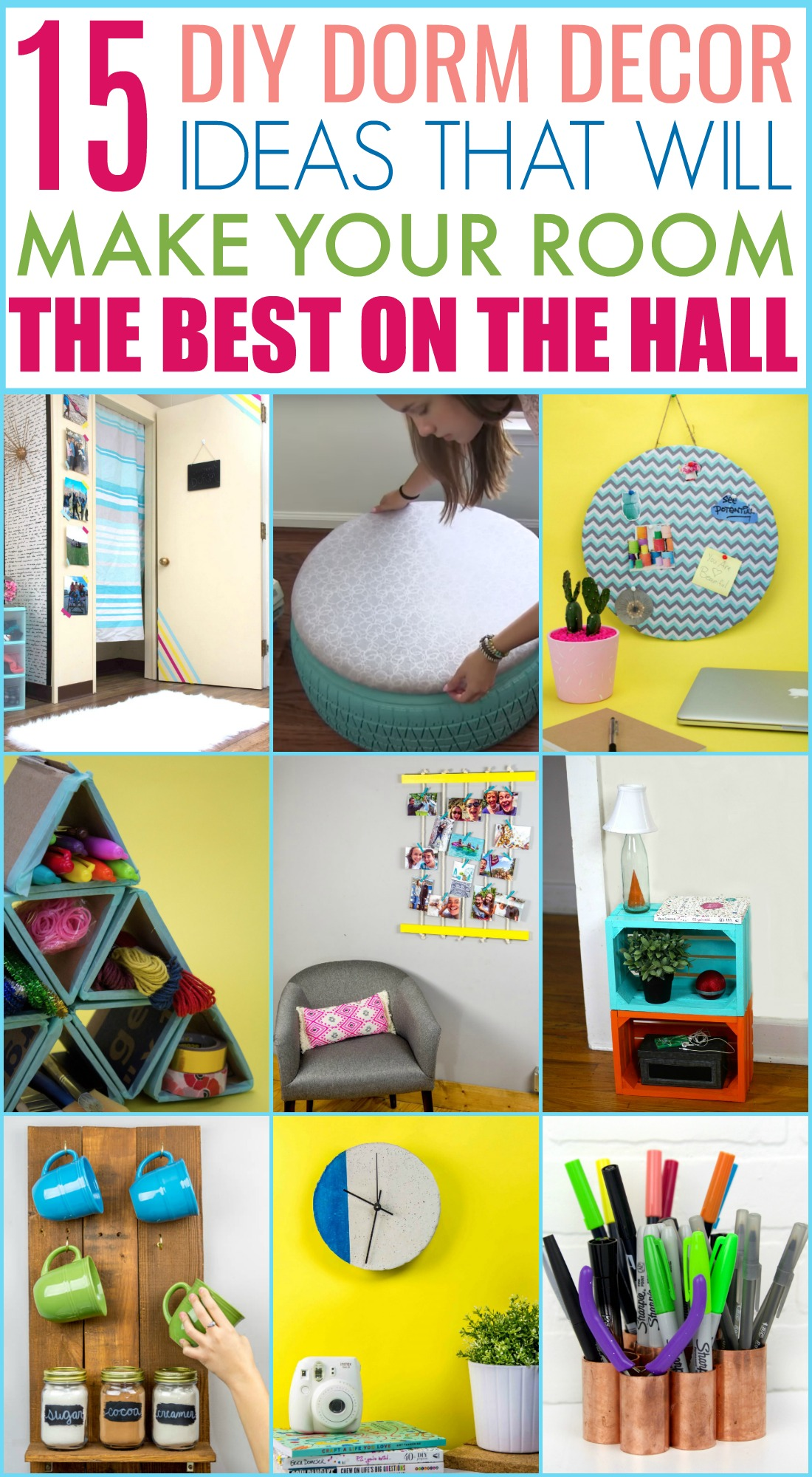 diy dorm decor ideas, dorm room, diy dorm organization, dorm hacks